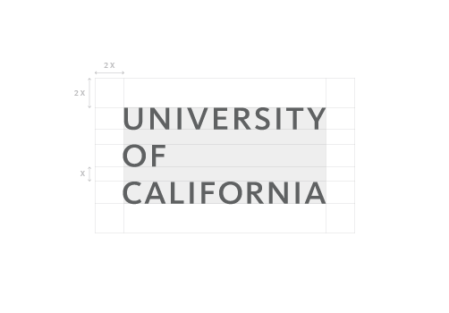 UC Wordmark Clearspace