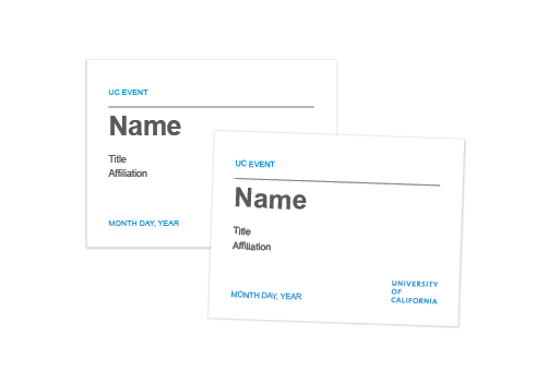 The UC Brand Templates - Name tag word template