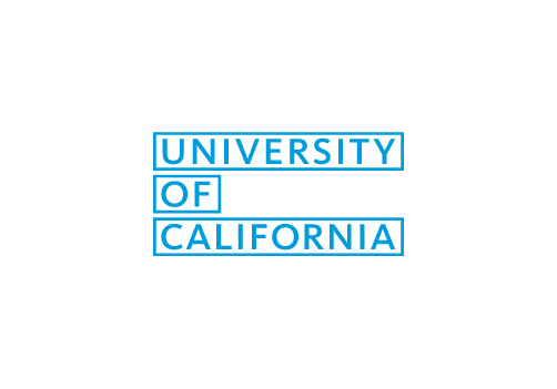 University of California Wordmark Logo with lined blocks